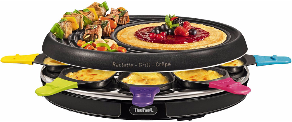 Service a raclette service raclette transparent 4 for Pizza party tefal darty