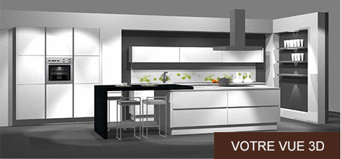 du projet 3d la r alit cuisine sur mesure. Black Bedroom Furniture Sets. Home Design Ideas